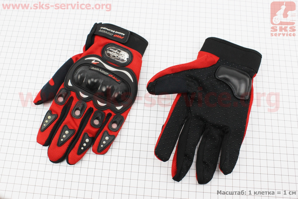Мотоциклетні рукавички XL-червоні (337516)