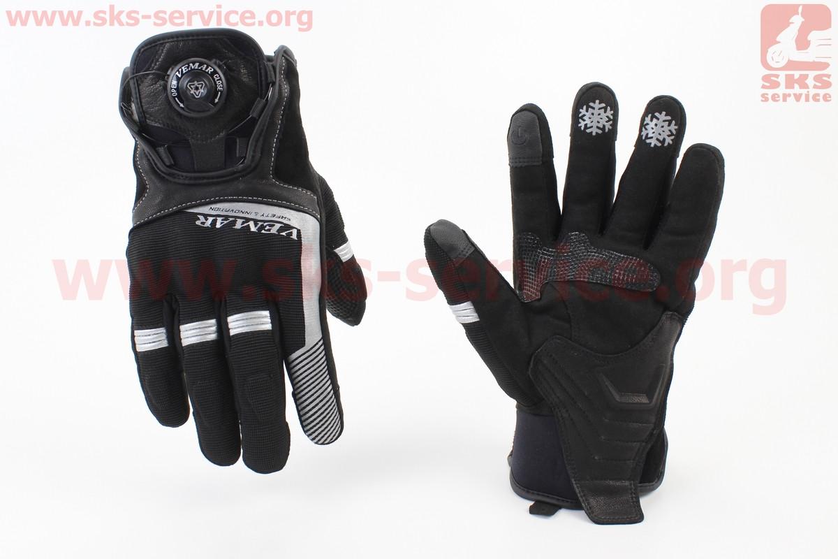 Мотоциклетні рукавички, теплі XL-чорні, тип 3 (354244)