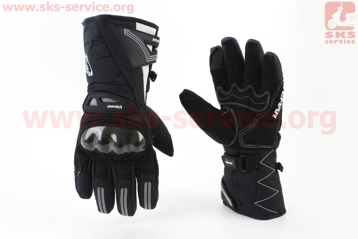 Перчатки мотоциклетные, теплые XL-черно/белые (354239)