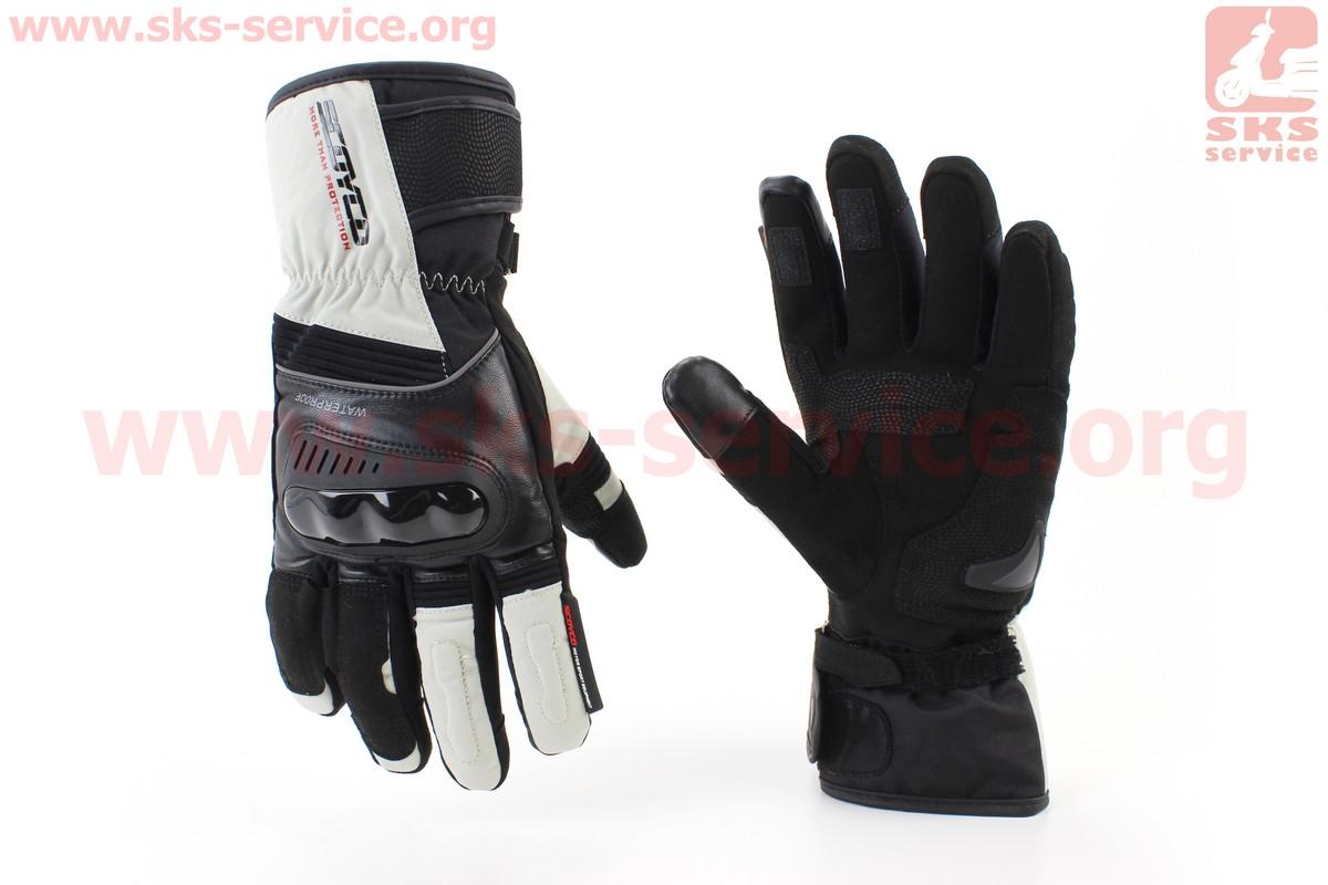 Мотоциклетні рукавички, теплі XL-чорно/білі (354257)
