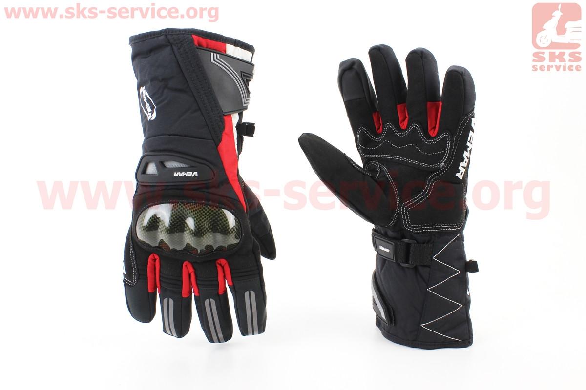 Перчатки мотоциклетные, теплые XL-черно/красный (354238)
