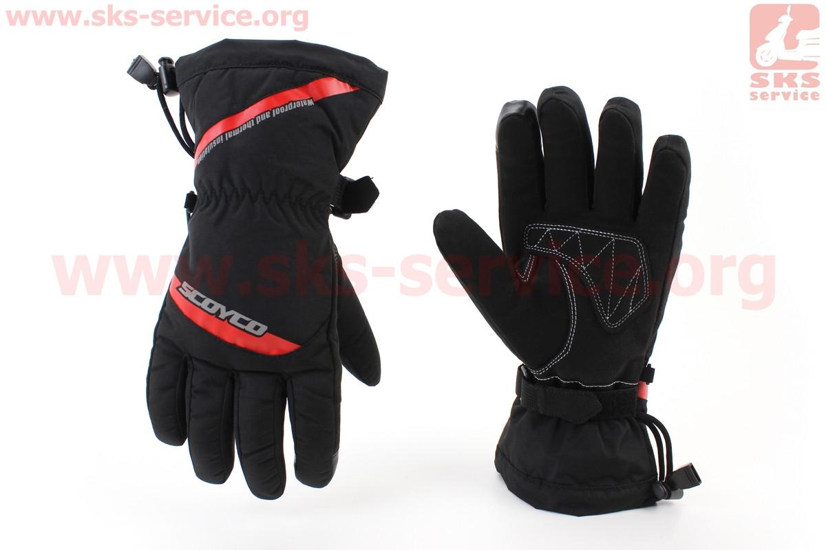 Мотоциклетні рукавички, теплі XL-чорно/червоний (354256)