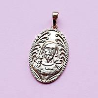 Ладанка Лик Іса Христа з медичної сталі покриття позолота