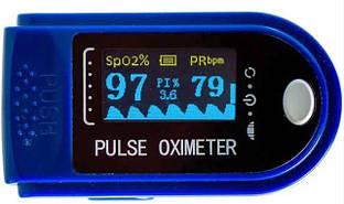 Пульсоксиметр Pulse Oximeter CMS50D Синій