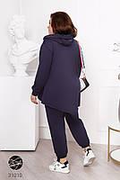 Женский спортивный костюм больших размеров из олимпийки и штанов с 50 по 60 размер, фото 5