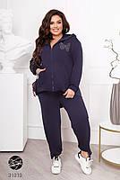 Женский спортивный костюм больших размеров из олимпийки и штанов с 50 по 60 размер, фото 7