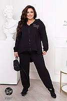 Женский спортивный костюм больших размеров из олимпийки и штанов с 50 по 60 размер, фото 8
