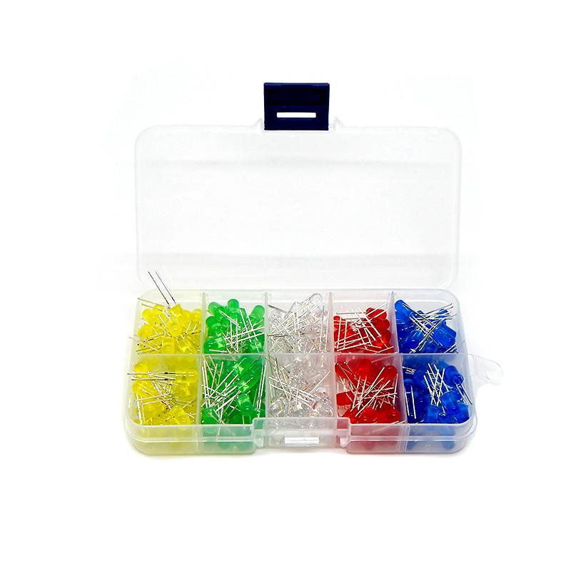Набір світлодіодів 250 шт. (5 кольорів) Led 5mm