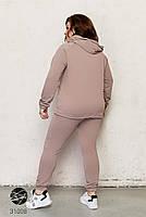 Прогулочный женский костюм двойка с капюшоном и карманом кенгуру с 46 по 60 размер, фото 3