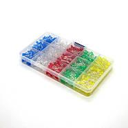 Світлодіоди Led 5mm набір мікс кольорів 500 шт., фото 2