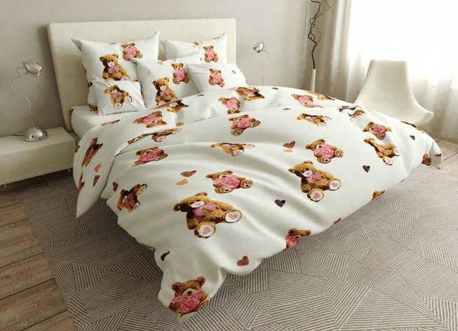 Двуспальный комплект постельного белья 180*220 сатин (16807) TM КРИСПОЛ Украина, фото 2
