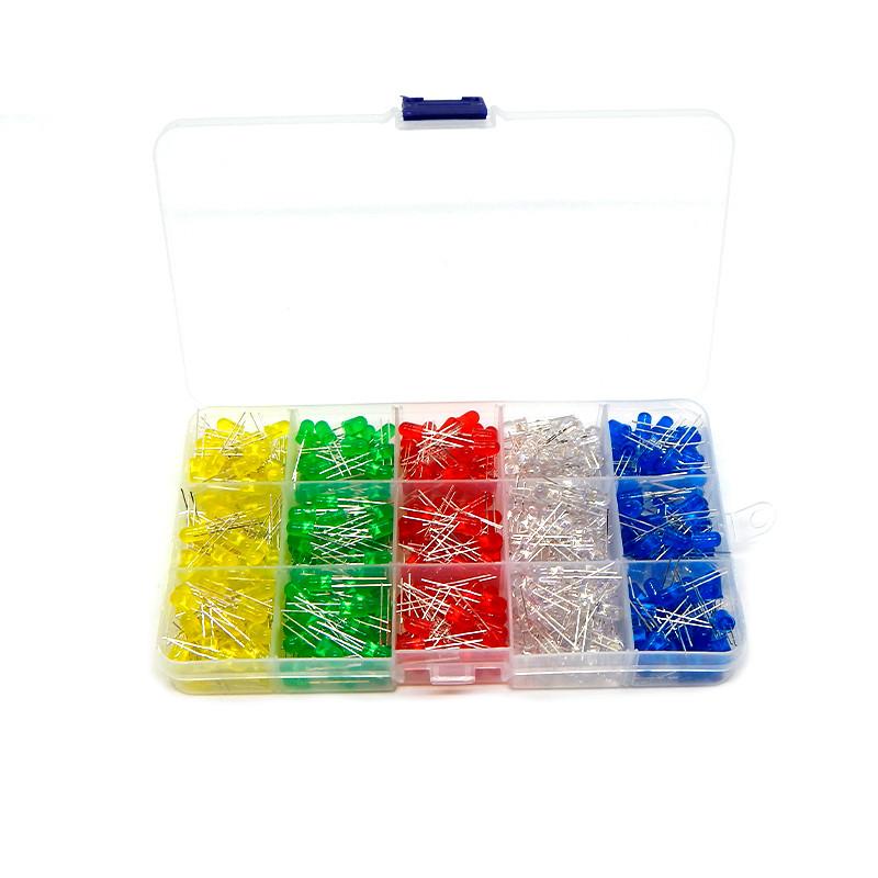 Світлодіоди Led 5mm набір мікс кольорів 500 шт.