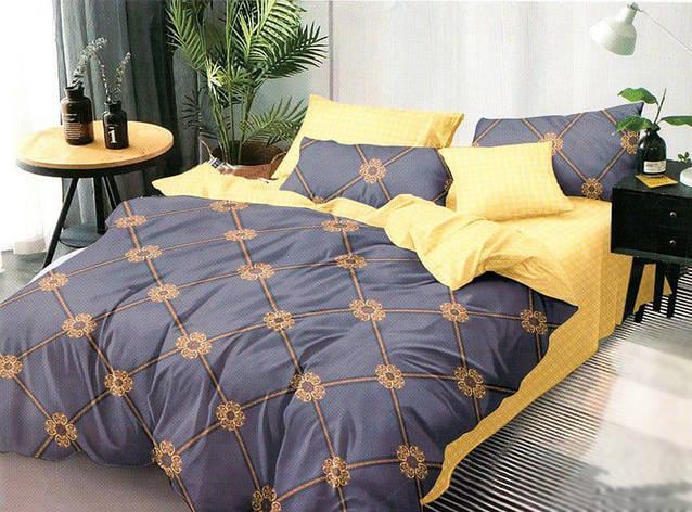 Двуспальный комплект постельного белья евро 200*220 сатин (16824) TM КРИСПОЛ Украина, фото 2
