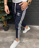 Мужские крутые стильные спортивные штаны (Adidas) чёрные