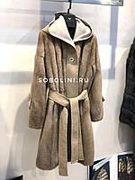 Шуба-пальто з норки з обробкою кашеміру 42-48р