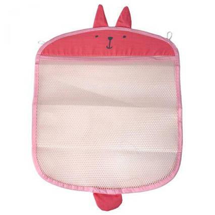 Детская сетка-органайзер в ванную, розовый №0916