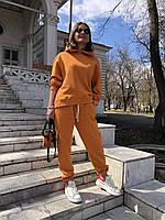 Прогулянковий жіночий спортивний костюм з капюшоном оверсайз полірована трехнитка, фото 1