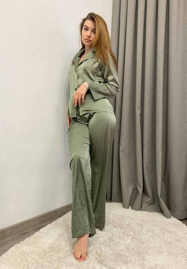 Пижама женская рубашка и штаны шелк Армани