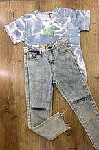 Джинсы Mom женские L(р) голубые 802-18 КНР Весна-AA