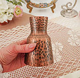 Старая медная ваза, вазочка ручной работы, ваза из меди, Германия, 12 см, фото 3
