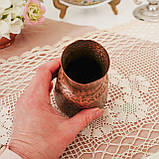 Старая медная ваза, вазочка ручной работы, ваза из меди, Германия, 12 см, фото 5