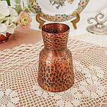 Старая медная ваза, вазочка ручной работы, ваза из меди, Германия, 12 см, фото 4