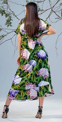 Шифоновое платье оверсайз с V-образным вырезом Джесс 42-48 р, фото 2