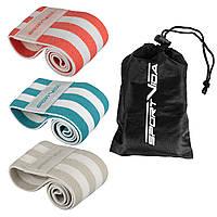 Набор резинок для фитнеса и спорта тканевый SportVida Hip Band 3 штуки SV-HK0363