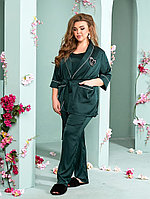 Элегантная женская шёлковая пижама 3-ка с 52 по 62 размер