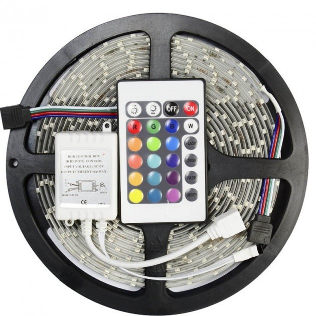 Стрічка світлодіодна різнокольорова LED 3528 RGB комплект