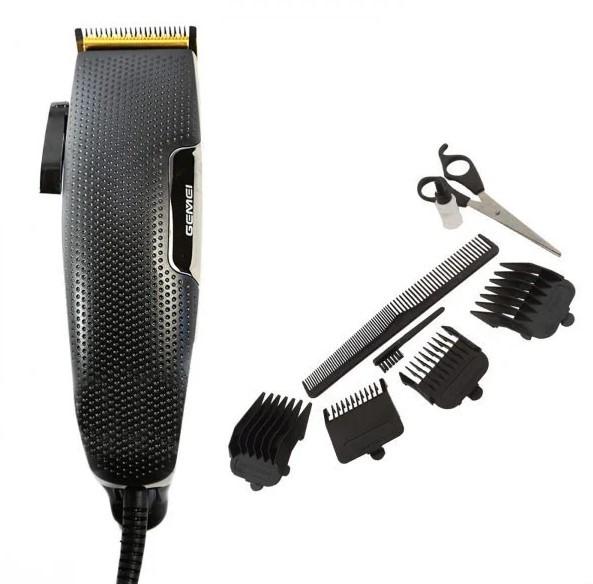 Машинка для стрижки волосся Gemei 4 насадки 3, 6, 9, 12 мм