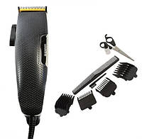 Машинка для стрижки волос Gemei 4 насадки 3, 6, 9, 12 мм
