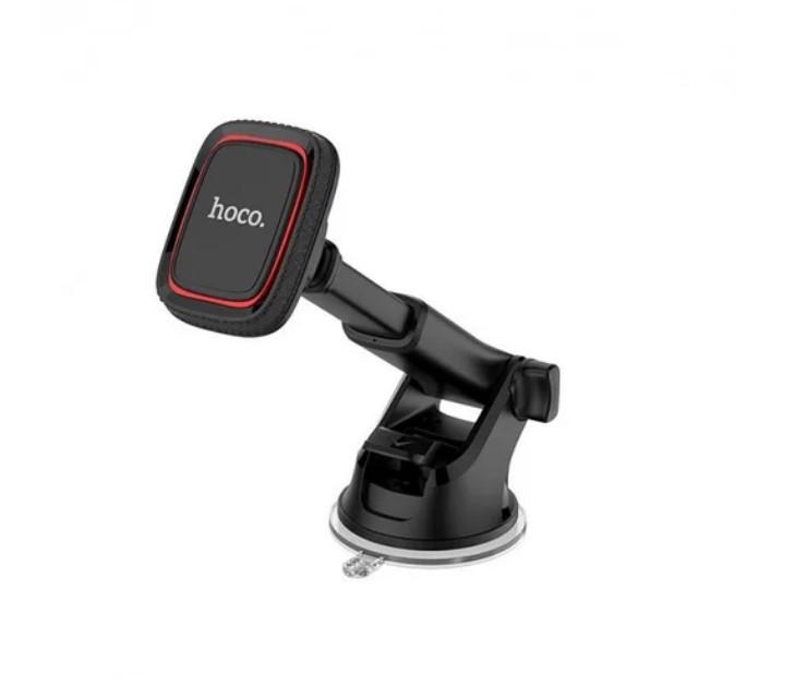 Автомобильный держатель для телефона магнитный Hoco черно-красный