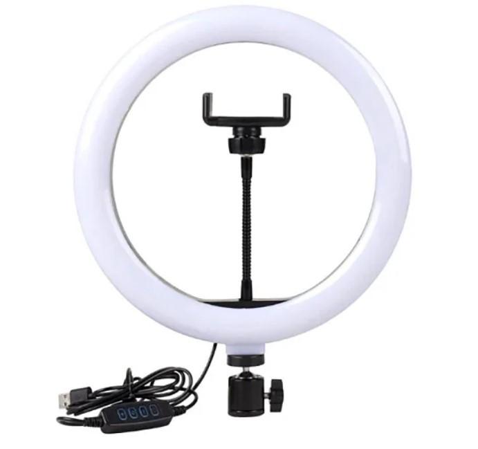 Кільцева LED лампа 25см з тримачем, без підставки