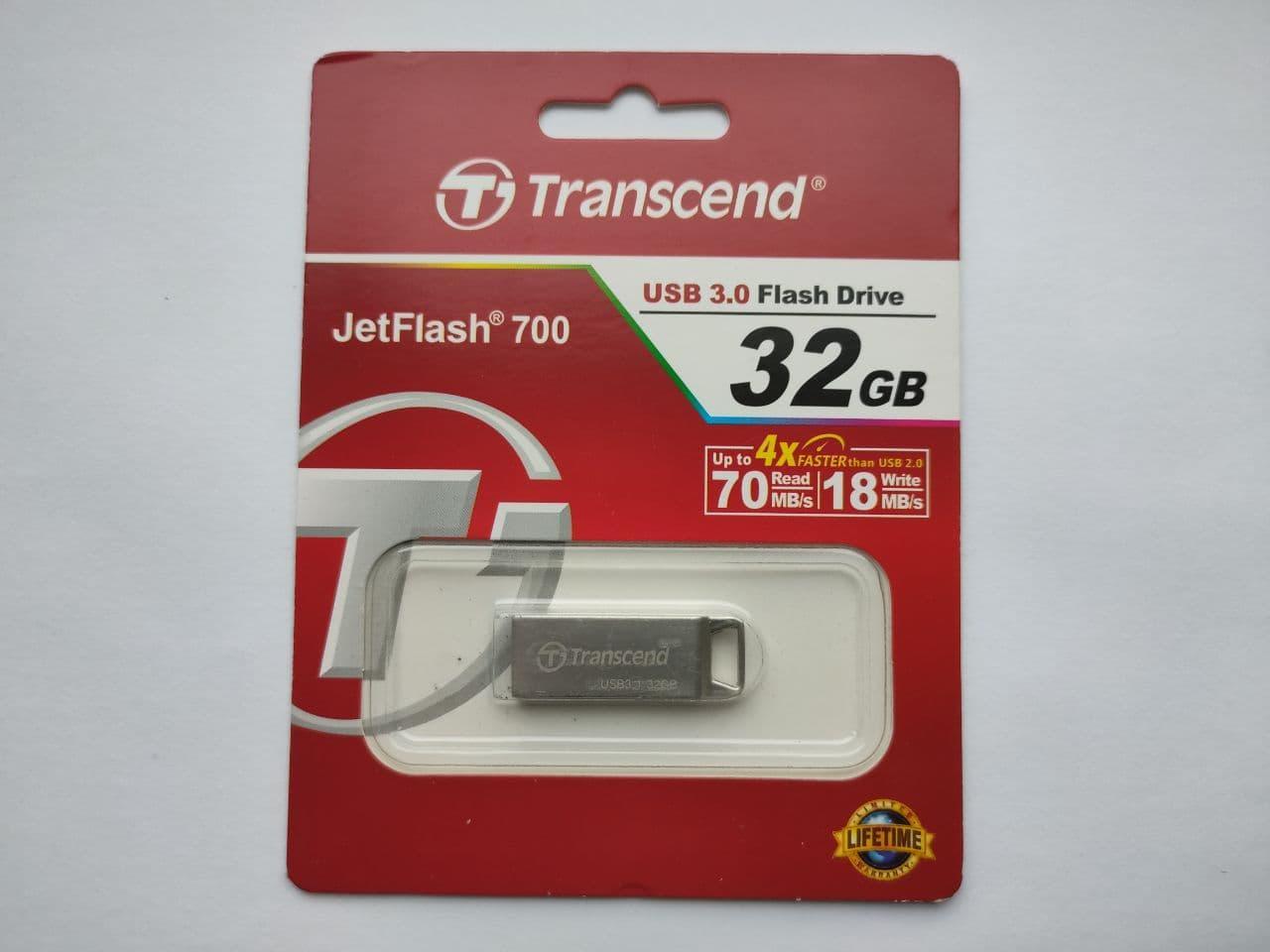 USB флеш накопичувач Transcend 32GB TRANSCEND JetFlash 700 USB3.0