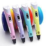 3Д ручка дитяча 3D Ручка PEN-2 з LCD-дисплеєм + Пластик! Крута ручка для малювання!, фото 2