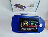 Пульсометр оксиметром на палець для контролю пульсу SpO2 Електронний пульсоксиметр медичний напалечный, фото 4