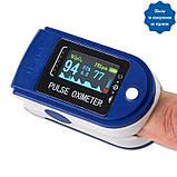 ПульсОксиметр датчик пульсу кисню медичний крові на палець pulse oximeter пульсометр оксометр, фото 4