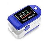 ПульсОксиметр датчик пульсу кисню медичний крові на палець pulse oximeter пульсометр оксометр, фото 5