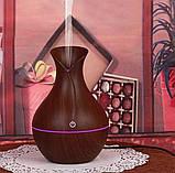 Міні зволожувач повітря usb Ultrasonic Aroma Humidifier c підсвічуванням 7 кольорів, USB Темно-коричневий, фото 2