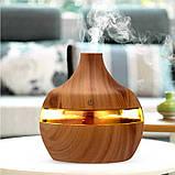 Міні зволожувач повітря usb Ultrasonic Aroma Humidifier c підсвічуванням 7 кольорів, USB Темно-коричневий, фото 3