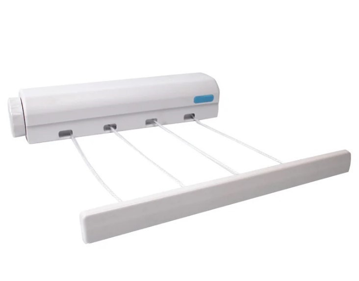 Автоматическая вытяжная настенная сушилка для белья, бельевая веревка