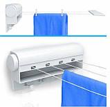 Автоматическая вытяжная настенная сушилка для белья, бельевая веревка, фото 2