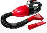 Пилосос для авто CAR VACUM CLEANER, Компактний автомобільний пилосос, Пилосос в машину, Автопилосос, фото 2
