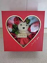 Мыло из роз + игрушка. Подарочный набор на День Влюбленных