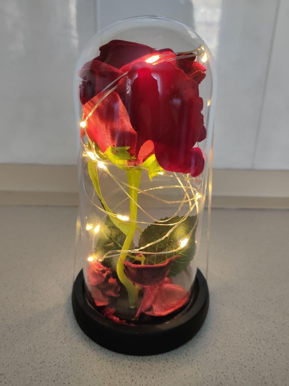 Роза в колбі з LED підсвічуванням, вічна троянда.Нічник.Найкращий подарунок!