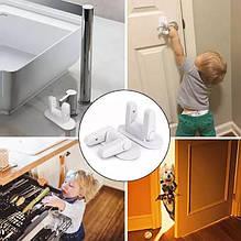 Защита от открывания дверей. Блокиратор ручек. Детский замок или защелка Door Lever Lock
