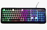 Игровая клавиатура с подсветкой PSFY M300 - проводная USB клавиатура для компьютера с подсветкой клавиш, фото 4