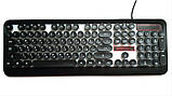 Игровая клавиатура с подсветкой PSFY M300 - проводная USB клавиатура для компьютера с подсветкой клавиш, фото 7