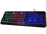 Ігрова клавіатура з підсвічуванням веселка провідна M300 The Rertro Punk Keybord, фото 2